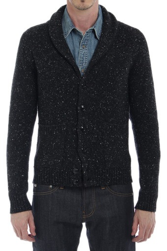 SHAWL CARDIGAN/DARK CHARCOAL