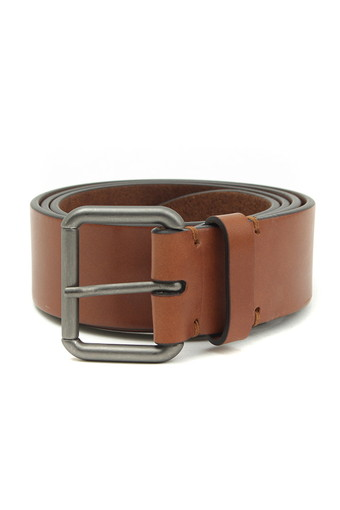 LEATHER BELT/BROWN LEATHER