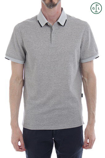 GIBSON POLO/HEATHERED MORNING GREY
