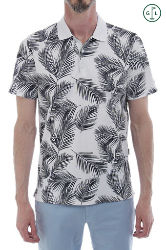 PALMS POLO/PALMS PRINT BRIGHT WHITE