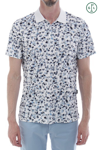 PARKWAY POLO/PARKWAY PRINT BRIGHT WHITE