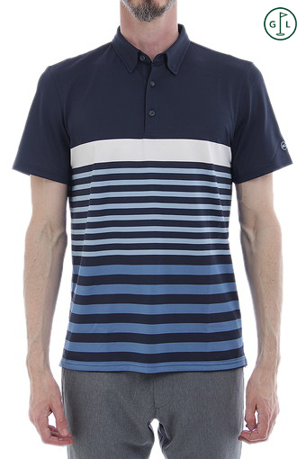DOWNEY STRIPE POLO/NAVAL BLUE/BRIGHT WHITE/CLEAR SKY/BLUE CREEK