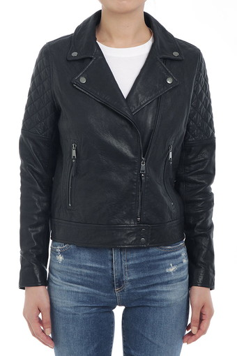 LARISSA MOTO JACKET/DARK MONSOON