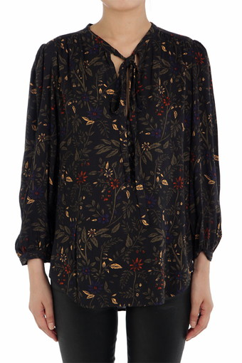SAVANNAH BLOUSE/TRUE BLACK MULTI