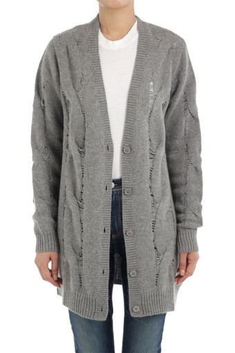 SANDRINE CARDIGAN/PEBBLE GREY