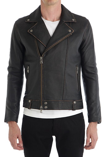 AMES BIKER JACKET/BLACK RUST