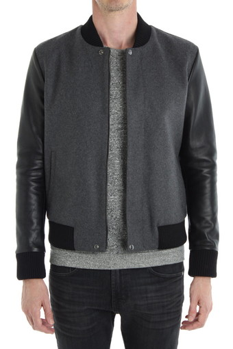 DAMON BOMBER/CHARCOAL GREY