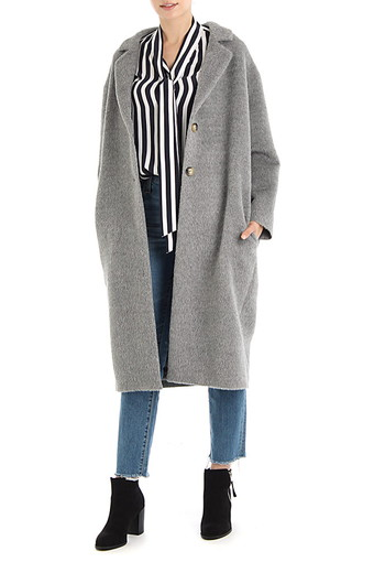 JEMIMA COAT/HEATHER GREY