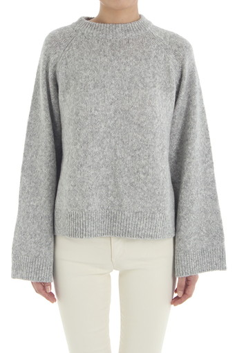 NOELLE SWEATER/SHIMMER HEATHER GREY