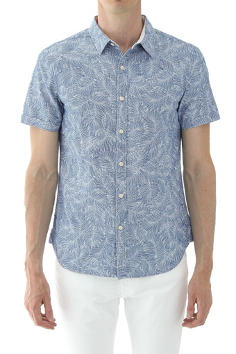 PEARSON S/S SHIRT/IMPRINTED LEAVES I/W