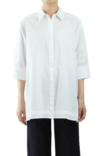 FREQUENCY OVERSIZED TUNIC/TRUE WHITE
